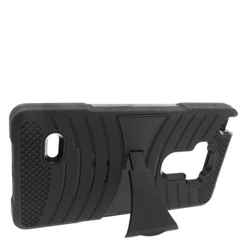 Insten Wave Hybrid Stand Rubber Silicone/PC Case For LG G Stylo LS770/G Vista 2, Black