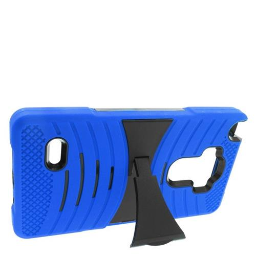 Insten Wave Hybrid Stand Rubber Silicone/PC Case For LG G Stylo LS770/G Vista 2, Blue/Black