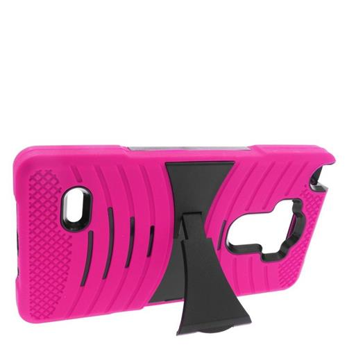 Insten Fitted Soft Shell Case for LG G Stylo - Hot Pink;Black