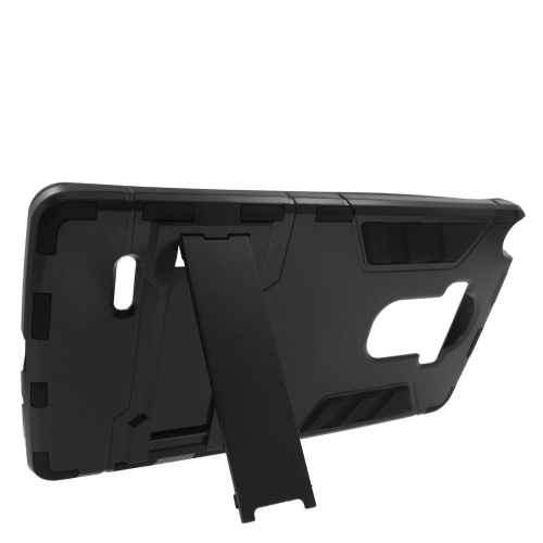 Insten Hybrid Stand Rubberized Hard PC/Silicone Case For LG G Stylo LS770/G Vista 2, Black