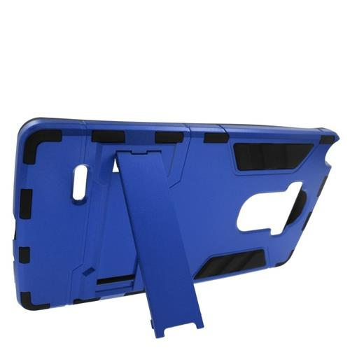 Insten Hybrid Stand Rubberized Hard PC/Silicone Case For LG G Stylo LS770/G Vista 2, Blue/Black