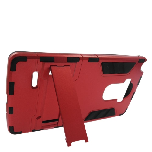 Insten Hybrid Stand Rubberized Hard PC/Silicone Case For LG G Stylo LS770/G Vista 2, Red/Black