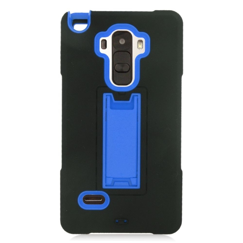 Insten Hybrid Stand Rubber Silicone/PC Case For LG G Stylo LS770/G Vista 2, Black/Blue