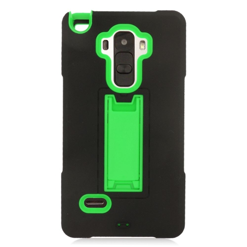 Insten Hybrid Stand Rubber Silicone/PC Case For LG G Stylo LS770/G Vista 2, Black/Green