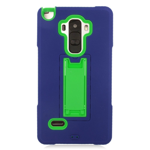Insten Hybrid Stand Rubber Silicone/PC Case For LG G Stylo LS770/G Vista 2, Blue/Green