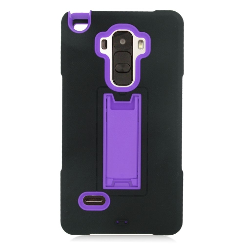 Insten Hybrid Stand Rubber Silicone/PC Case For LG G Stylo LS770/G Vista 2, Black/Purple