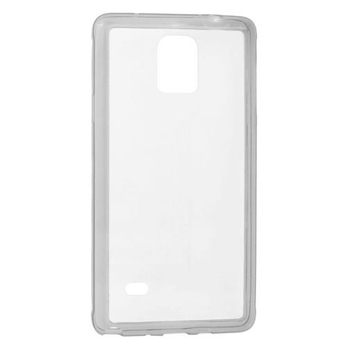 Insten TPU Rubber Candy Skin Case Cover Compatible With Samsung Galaxy Note 4, Clear/Smoke