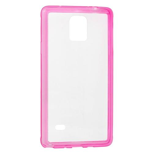 Insten TPU Rubber Candy Skin Case Cover Compatible With Samsung Galaxy Note 4, Clear/Pink