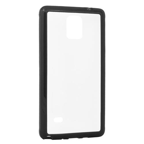 Insten TPU Rubber Candy Skin Case Cover Compatible With Samsung Galaxy Note 4, Clear/Black