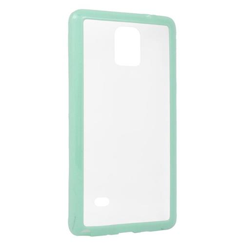 Insten TPU Rubber Candy Skin Case Cover Compatible With Samsung Galaxy Note 4, Clear/Mint