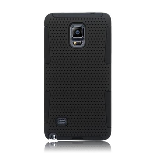 Insten Astronoot Hybrid PC/TPU Rubber Case For Samsung Galaxy Note 4, Black