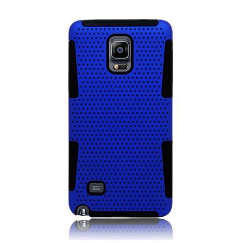 Insten Astronoot Hybrid PC/TPU Rubber Case For Samsung Galaxy Note 4, Blue/Black
