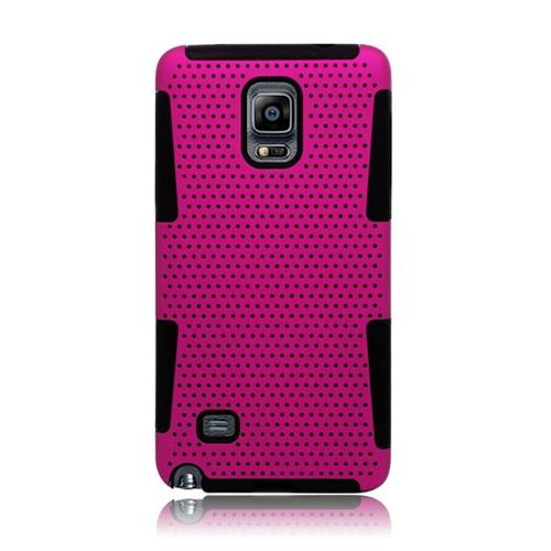 Insten Astronoot Hybrid PC/TPU Rubber Case For Samsung Galaxy Note 4, Hot Pink/Black