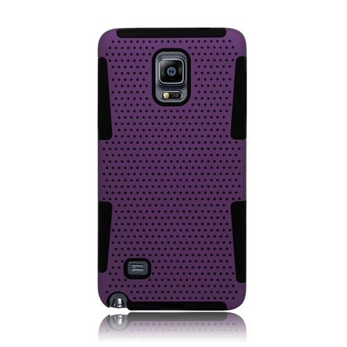 Insten Astronoot Hybrid PC/TPU Rubber Case For Samsung Galaxy Note 4, Purple/Black