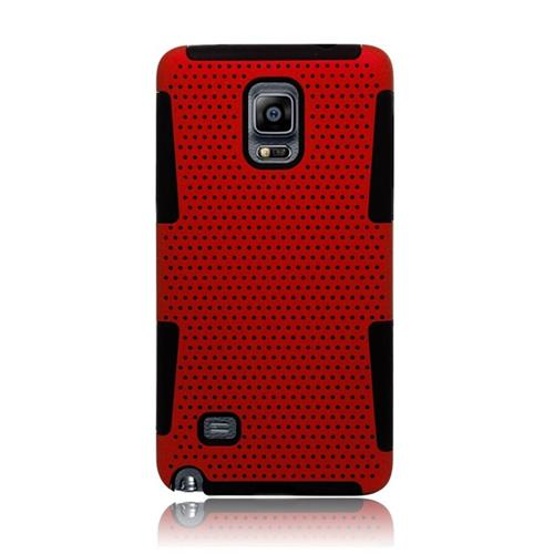 Insten Astronoot Hybrid PC/TPU Rubber Case For Samsung Galaxy Note 4, Red/Black
