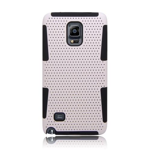 Insten Astronoot Hybrid PC/TPU Rubber Case For Samsung Galaxy Note 4, White/Black
