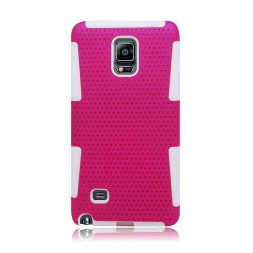 Insten Astronoot Hybrid PC/TPU Rubber Case For Samsung Galaxy Note 4, Hot Pink/White