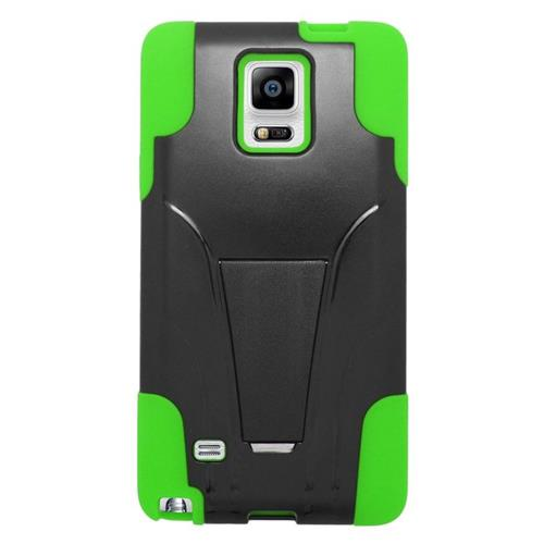 Insten Dual Layer Hybrid Stand PC/Silicone Case Cover Compatible With Samsung Galaxy Note 4, Green