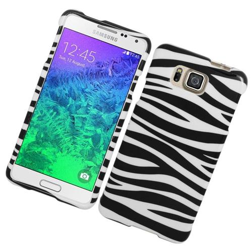 Insten Zebra Hard Snap-in Case For Samsung Galaxy Alpha SM-G850A/SM-G850T, White/Black