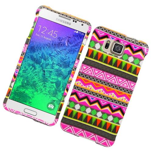 Insten Elegant Tribal Hard Snap-in Case For Samsung Galaxy Alpha SM-G850A/SM-G850T, Colorful