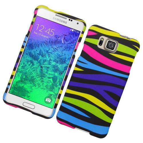 Insten Zebra Hard Snap-in Case For Samsung Galaxy Alpha SM-G850A/SM-G850T, Colorful