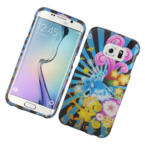 Insten Fireworks Rubberized Hard Snap-in Case Cover Compatible With Samsung Galaxy S6 Edge, Colorful