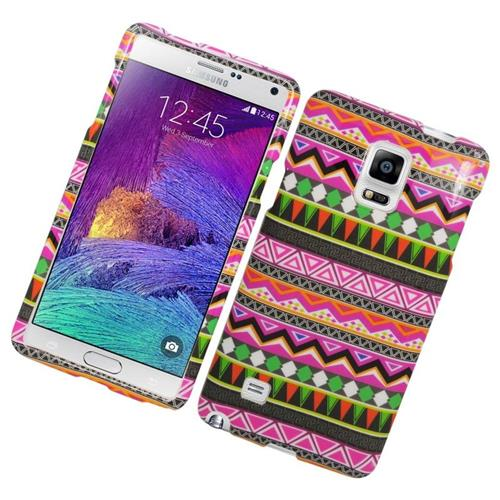 Insten Elegant Tribal Rubberized Hard Snap-in Case For Samsung Galaxy Note 4, Colorful