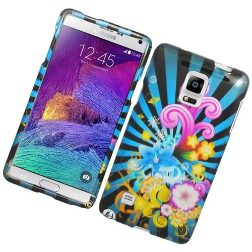 Insten Fireworks Rubberized Hard Snap-in Case Cover Compatible With Samsung Galaxy Note 4, Colorful