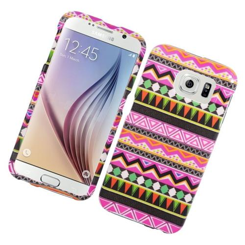 Insten Elegant Tribal Rubberized Hard Snap-in Case For Samsung Galaxy S6 SM-G920, Colorful