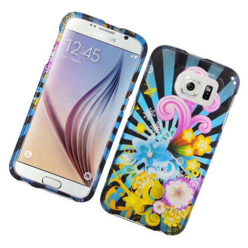Insten Fireworks Rubberized Hard Snap-in Case For Samsung Galaxy S6 SM-G920, Colorful