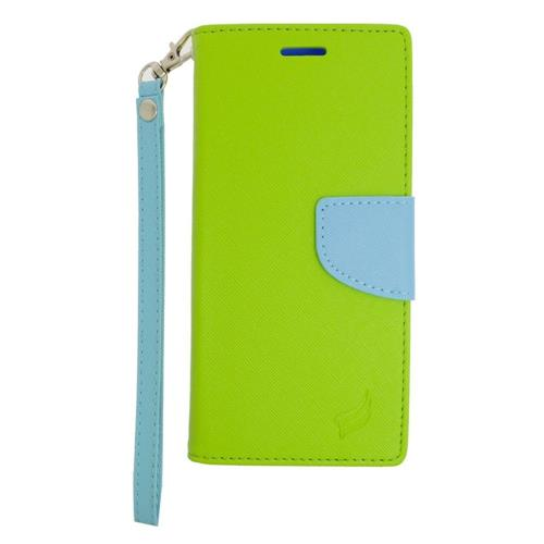Insten Folio Case for Samsung Galaxy S6 - Green;Light Blue