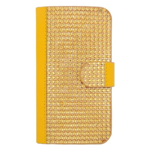 Insten Flip Leather Diamond Case w/card holder For Samsung Galaxy S6 Edge, Gold