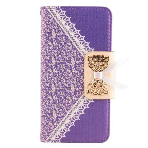 Insten Folio Case for Samsung Galaxy S6 Edge - Gold;Purple