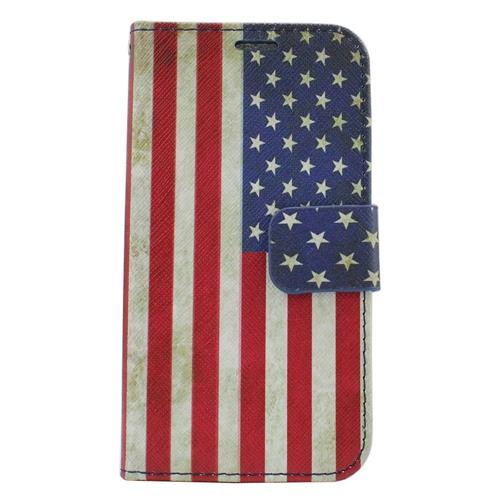 Insten United States Flag Flip Leather Case w/stand/card holder For Samsung Galaxy S6 Edge, Colorful