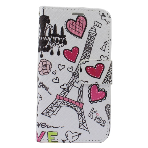 Insten Hearts Leather Case w/stand/card holder/Photo Display For Samsung Galaxy S6 Edge, Colorful