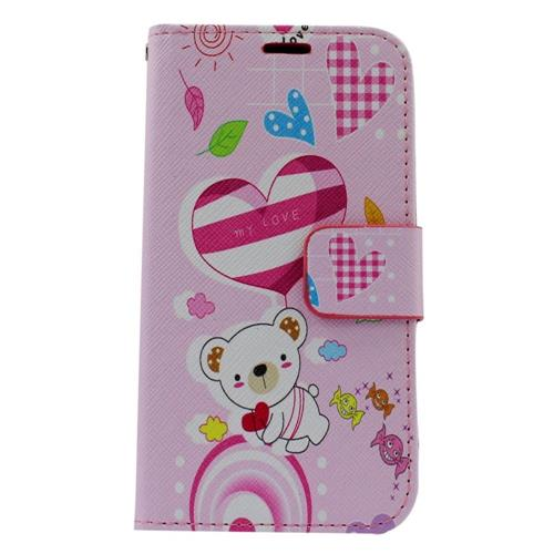 Insten Bear Leather Case w/stand/card holder/Photo Display For Samsung Galaxy S6 Edge, Colorful