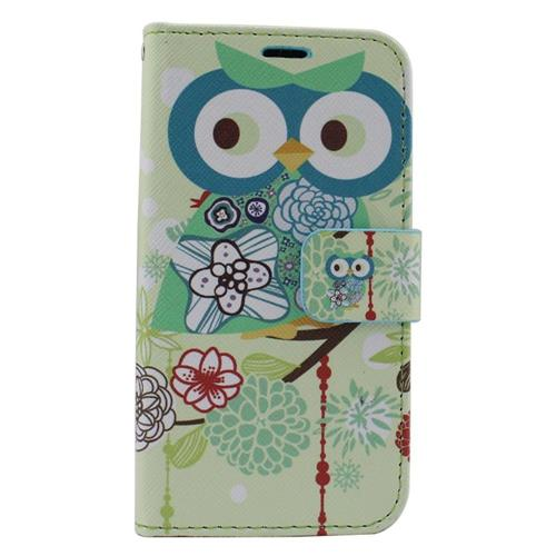 Insten Owl Flip Leather Case w/stand/card holder/Photo Display For Samsung Galaxy S6 Edge, Colorful
