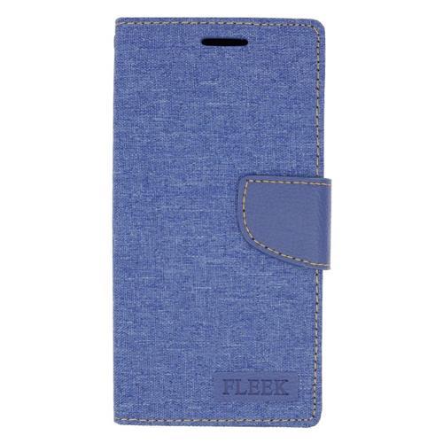 Insten Flip Leather Case w/stand/card slot/Photo Display For Samsung Galaxy Note 5, Dark Blue
