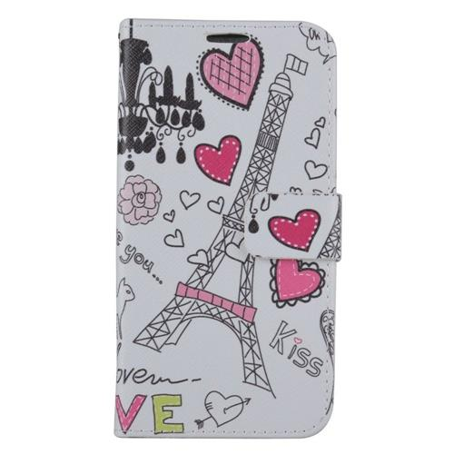 Insten Hearts Flip Leather Case w/stand/card holder For Samsung Galaxy S7 Edge, Colorful