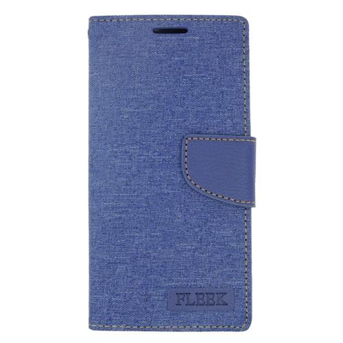 Insten Leather Case w/stand/card holder For LG Destiny/Leon/Power/Risio/Tribute 2, Blue
