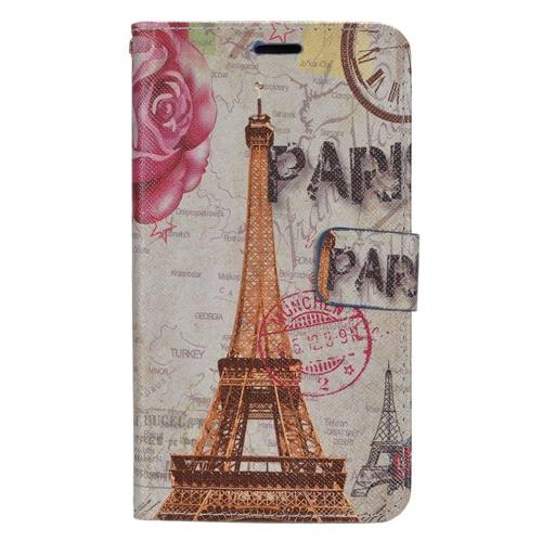 Insten Flowers Leather Fabric Case w/stand For LG Destiny/Leon/Power/Risio/Tribute 2, Colorful
