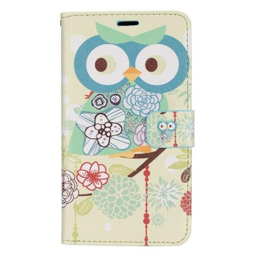 Insten Owl Leather Case w/stand/card holder For LG Destiny/Leon/Power/Risio/Tribute 2, Colorful