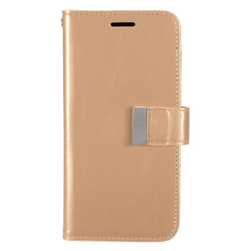 Insten Folio Leather Fabric Cover Case w/card holder/Photo Display For LG G5, Gold