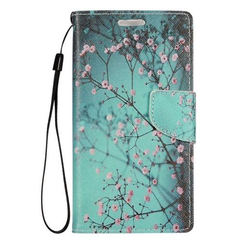 Insten Flowers Folio Leather Case Lanyard w/stand/card slot For LG Optimus Zone 3/Spree, Colorful