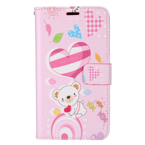 Insten Bear Leather Case w/stand/card slot/Photo Display For LG Optimus Zone 3/Spree, Colorful