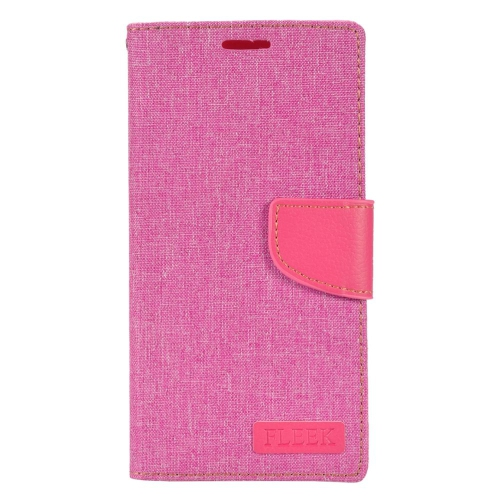 Insten Book-Style Leather Fabric Case w/stand/card slot/Photo Display For LG V10, Pink