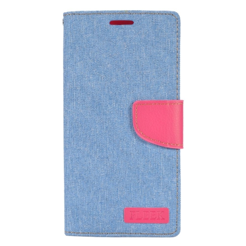 Insten Folio Leather Fabric Case w/stand/card holder/Photo Display For LG V10, Light Blue/Pink
