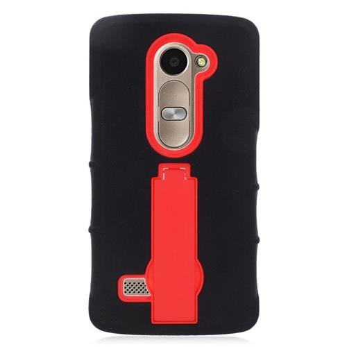 Insten Hybrid Case For LG Destiny/Leon Leon 4G LTE H340N/Power/Risio/Tribute 2, Black/Red