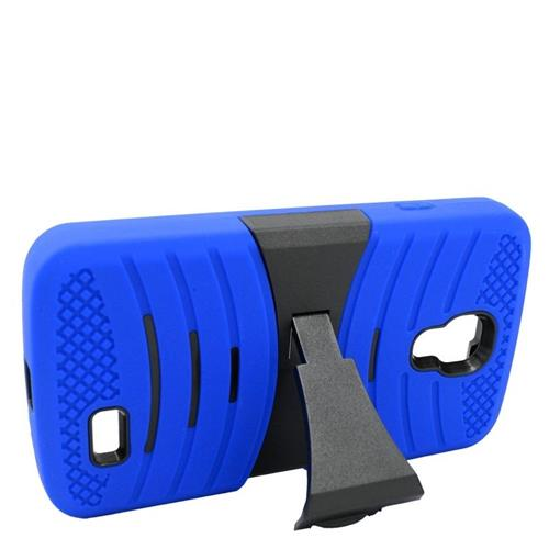 Insten Wave Hybrid Stand Rubber Silicone/PC Case For LG F70 D315, Blue/Black