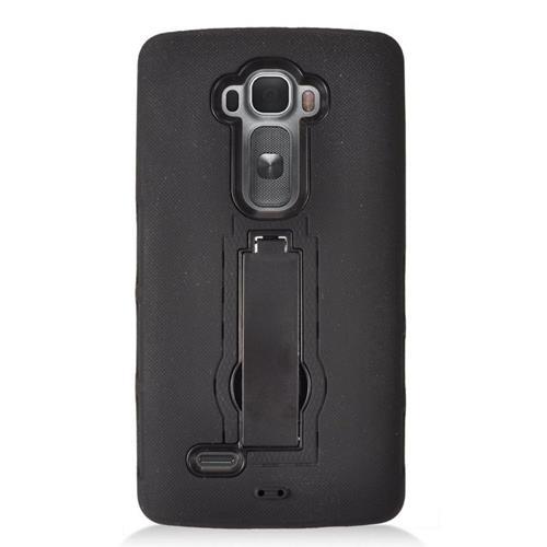 Insten Hybrid Stand Rubber Silicone/PC Case For LG G Flex 2, Black